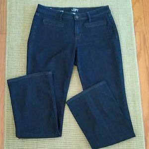 Ann Taylor Loft Dark Wash Boot Cut Jeans 8